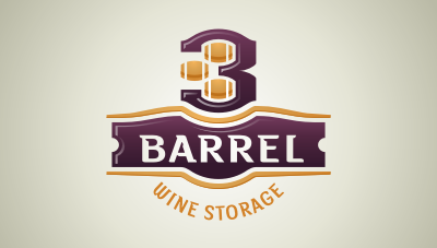 a wine storage company owned by 3 siblings; 2 brothers and one sister logo