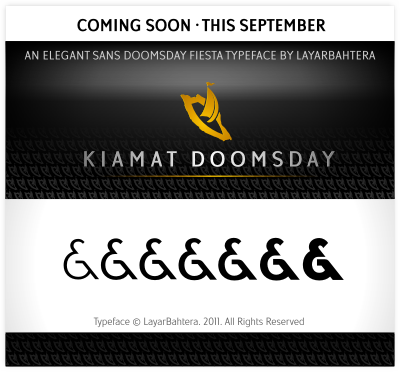 kiamat doomsday luxury font