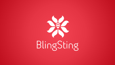 BlingSting : new woman fashion meets personal safety product logo design