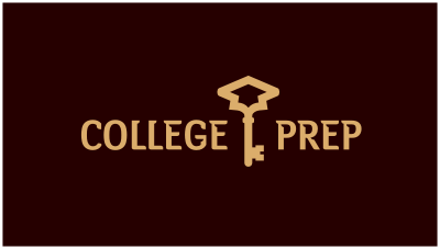 logo emblem symbol logotext design for College entry preparation advisory