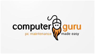 logo emblem symbol logotext design for PC maintenance and repair service