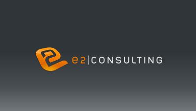 e2 consulting : consulting logo design