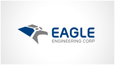 logo emblem symbol logotext design for Engineering Corporation highway and traffic contractor