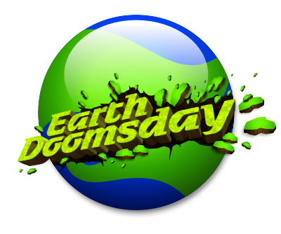 earth doomsday unique modern type typography design fresh