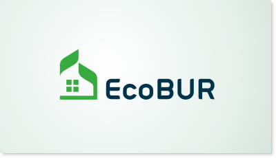 Eco friendly roof manufacturer logo design
