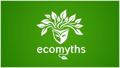 logo emblem symbol logotext design for website sharing myth facts about ecology