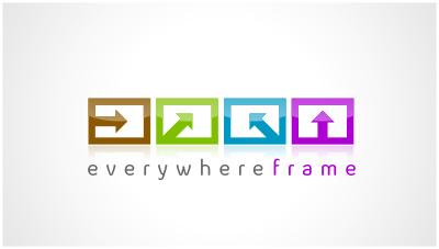 logo emblem symbol logotext design for web 3.0 logo Online store selling frames