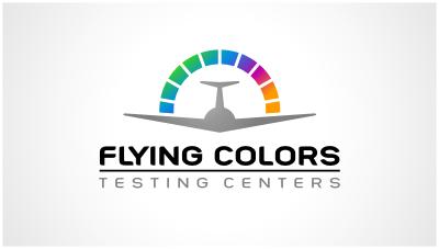 logo emblem symbol logotext design for Aviation testing centers