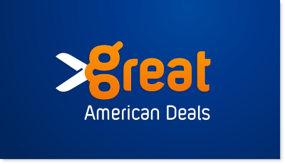 Daily Deals website such as Groupon, targeting American community logo design