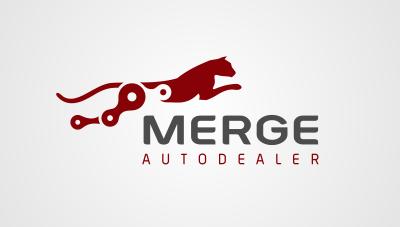 logo emblem symbol logotext design for Automotive sales and service dealer