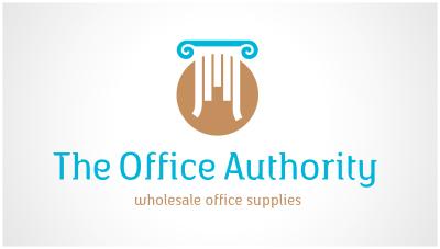 logo emblem symbol logotext design for Wholesale office supplies