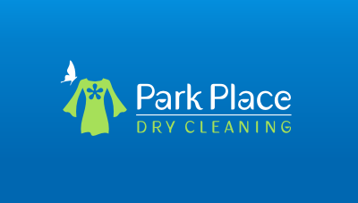 1st class service, eco friendly, and affordable dry cleaning logo design