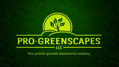 logo emblem symbol logotext design for Lawn and landscape company based in Michigan