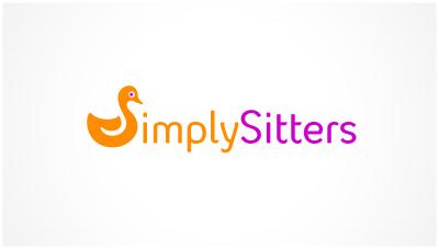 logo emblem symbol logotext design for Babysitting business
