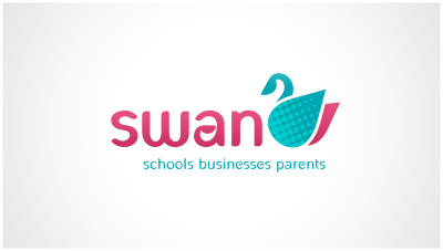 logo emblem symbol logotext design for school website advertising service offering businesses the opportunity  to place ads on school websites
