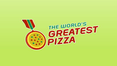 The World's Greatest Pizza : pizza logo design